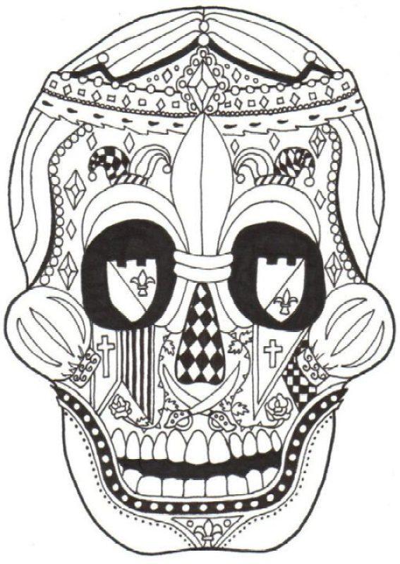 Crazy Dia De Los Muertos Skull Sample For Boys
