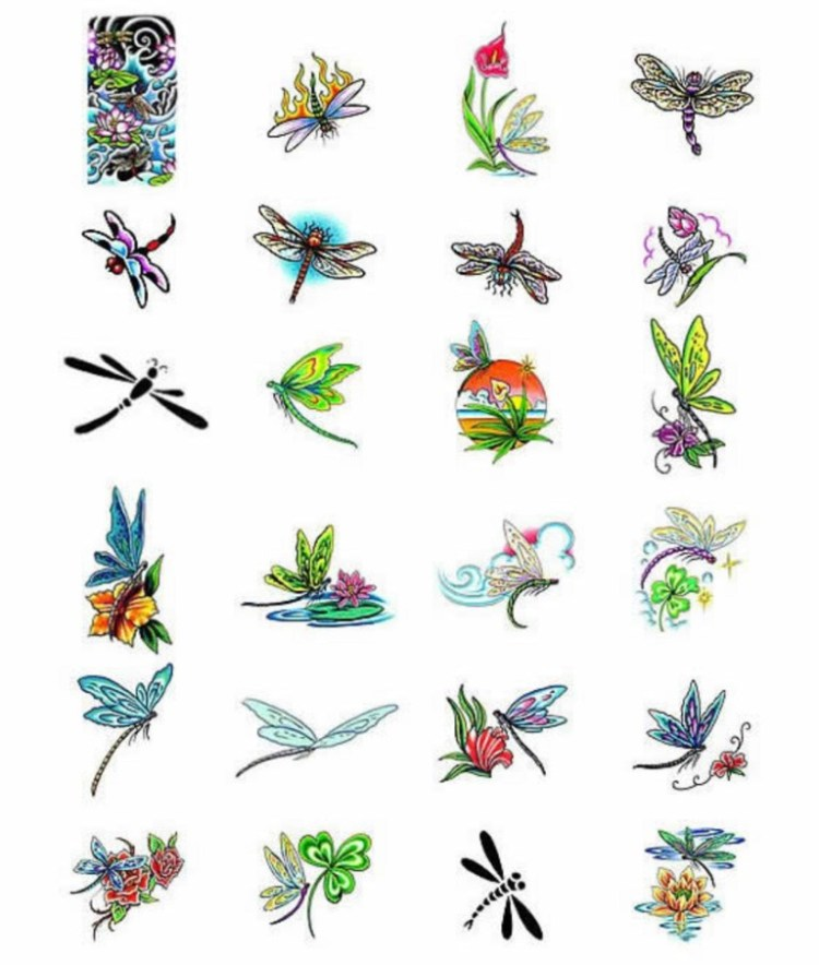 Creative Dragonfly Tattoo Collection For Boys