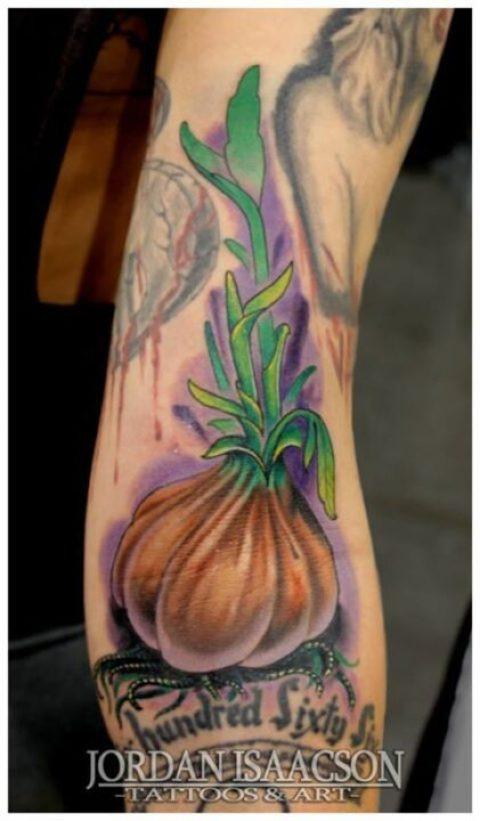 Cute Garlic Tattoo Design For Boys
