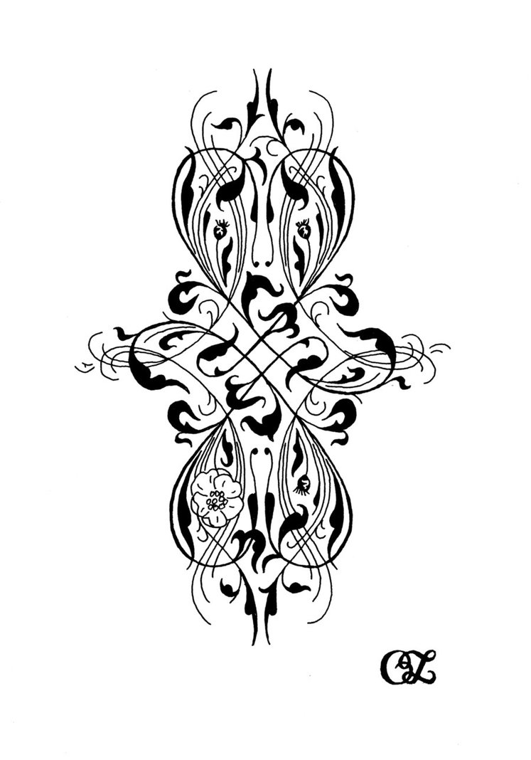 Cute Gothic Victorian Tattoo Design For Girls
