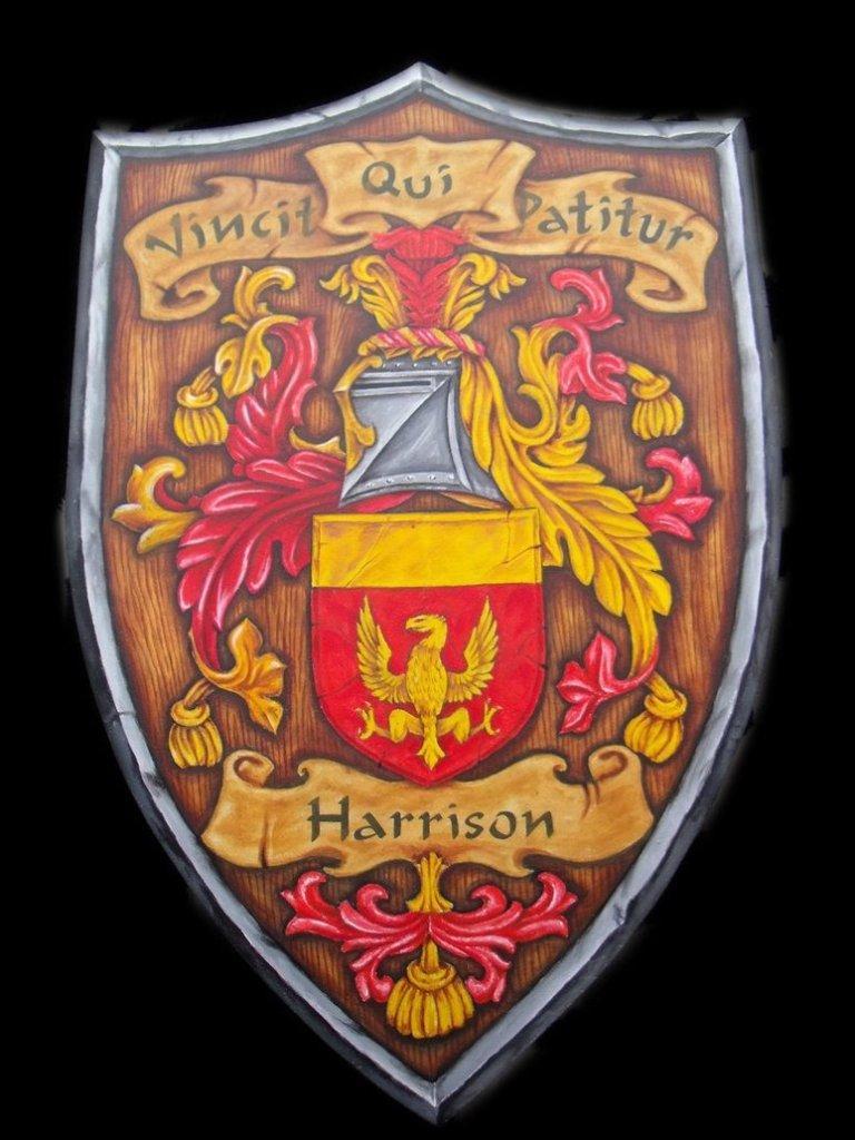 Cute Harrison Family Crest Tattoo Sample For Girls