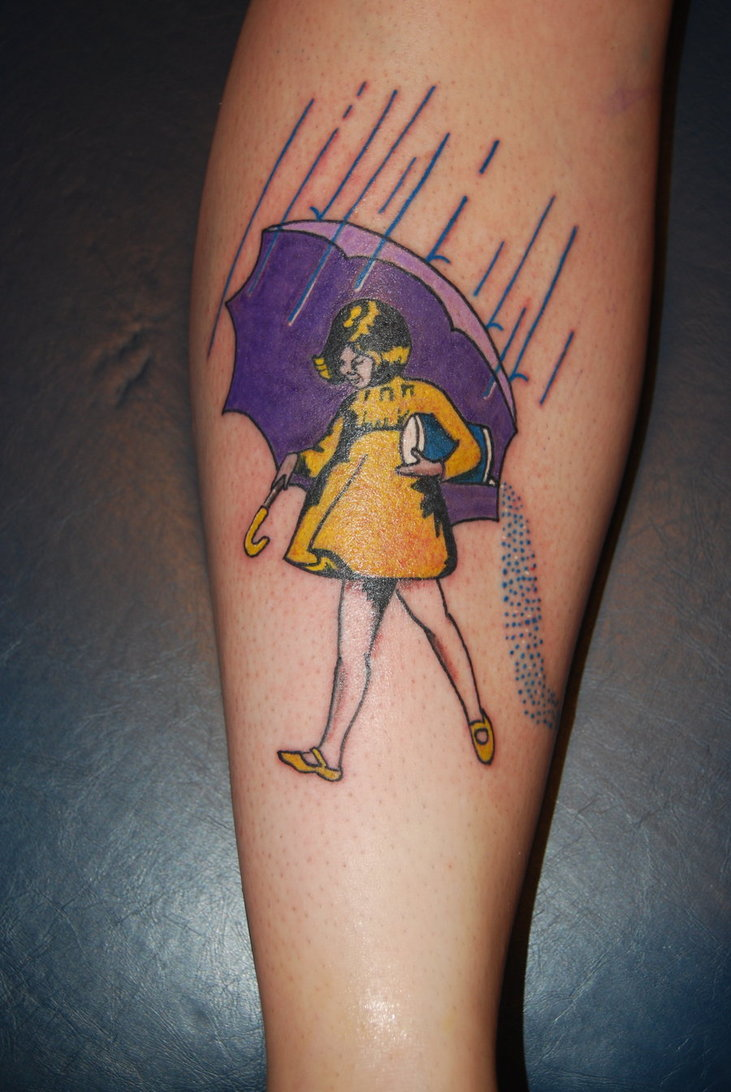 Cute Morton Salt Girl Tattoo Design For Girls