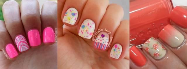 Cutest 3 Diffrent Color Accent Nail Design