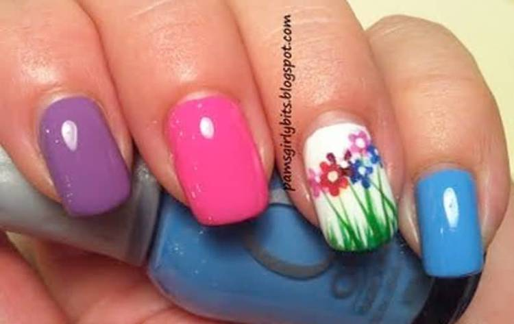 Cutest Colorful Nail Paint Accent Nail Art