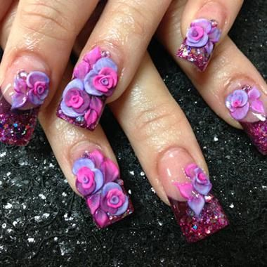 3d acrylic nail art images nail art and nail design ideas 47 tremendous 3d acrylic paint nail art design ideas picsmine cutest mixed color flower 3d acrylic prinsesfo Image collections