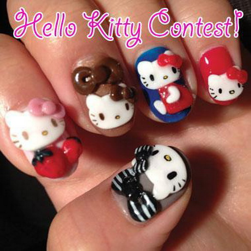 Cutest Teddy Bear Face Nail Art 3D Nail Art