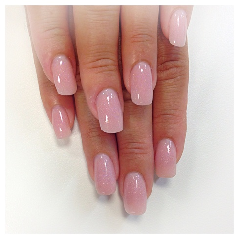 Dashing Baby pink Paint Pink Acrylic Nail Design