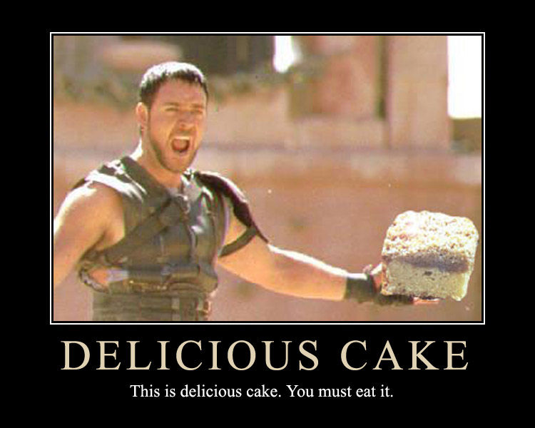 Delicious cake Meme Graphic