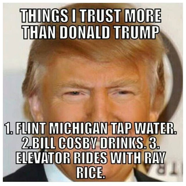 Donald Trump Meme Things I Trust More Than Donald Trump