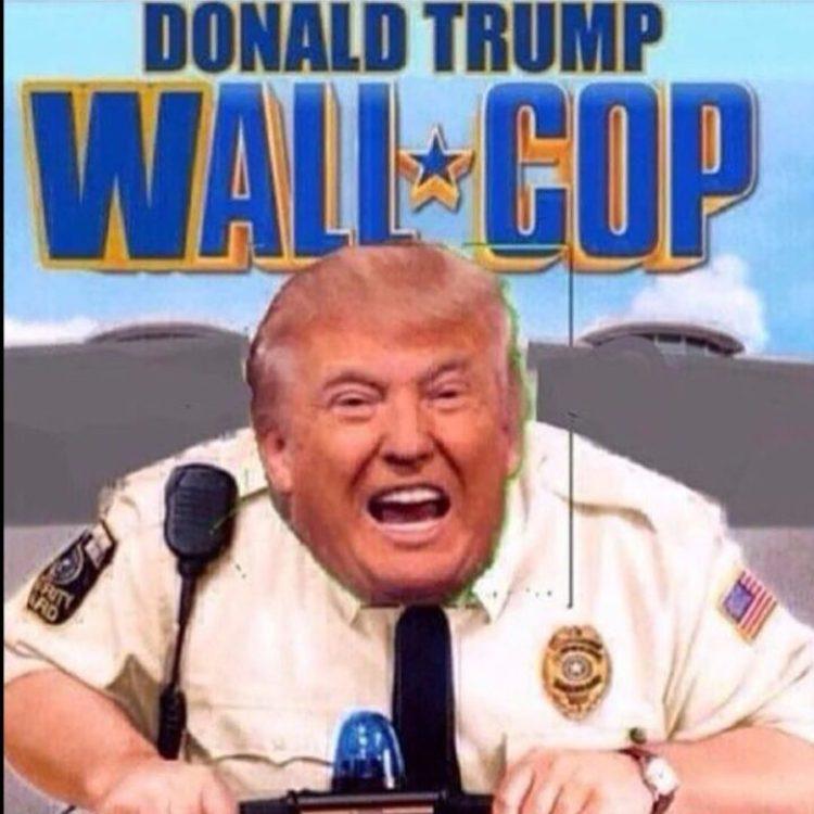Donald Trump Wall Cop Donald Trump Meme