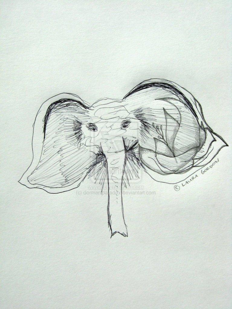 Elegant Elephant Tattoo Drawing For Tattoo Fans