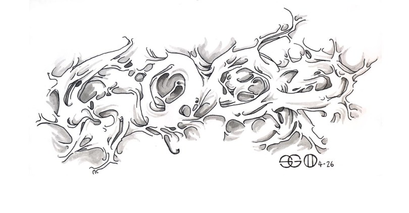Elegant Fire Graffiti Tattoo Flash For Girls