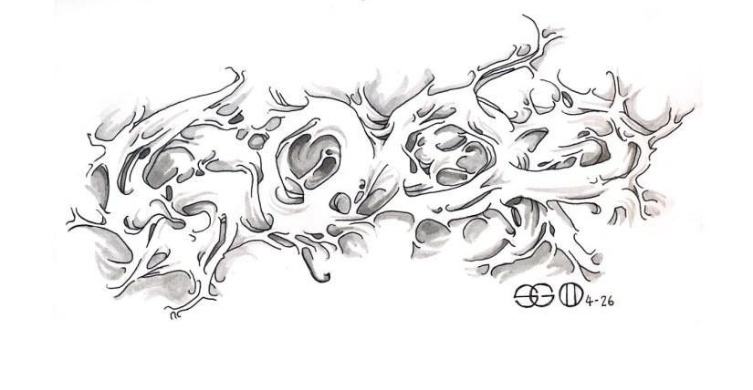 Elegant Fire Graffiti Tattoo Flash For Girls
