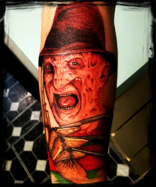 Elegant Horror Freddy Krueger Tattoo Design For Boys