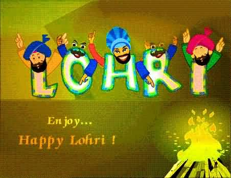Enjoy Happy Lohri Wishes For Dear Friends