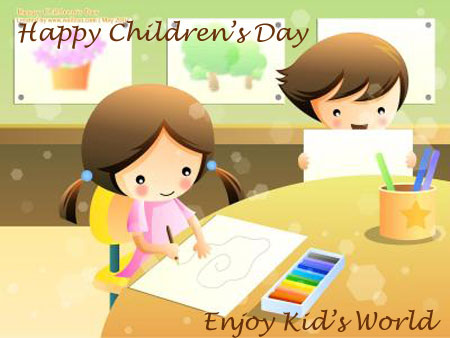 Enjoy Kids Happy Childrens Day Wishes Image