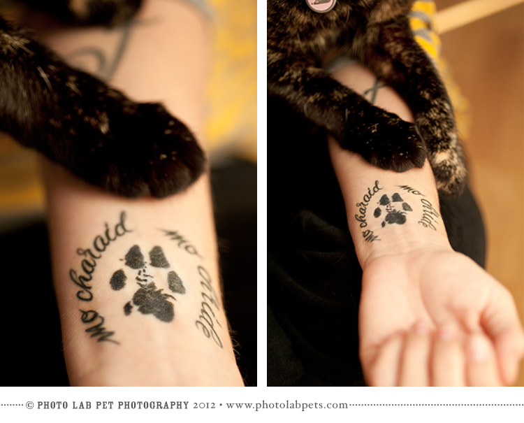 Famous Dog Paw Print Tattoo Designs On Wrist For Girls