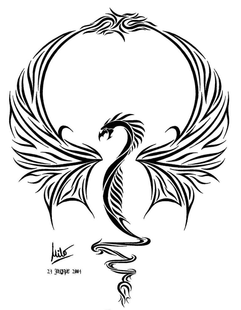 Famous Dragon Tattoo Design For Girls