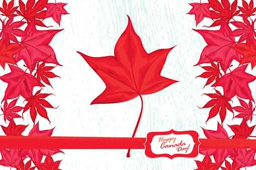 Famous Leaf Happy Canada Day Image