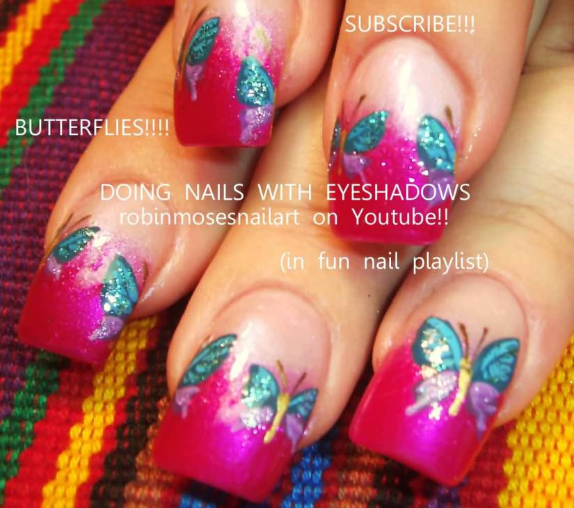 Fantastic Butterfly Nail On Tips