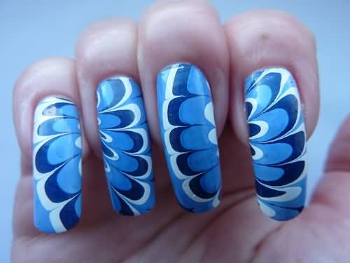 Fantastic Butterfly Nail With Feather Design