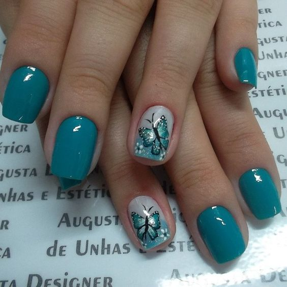Fantastic Butterfly Nail With Sparkling Design
