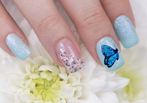 Fantastic Butterfly Nail With White Color