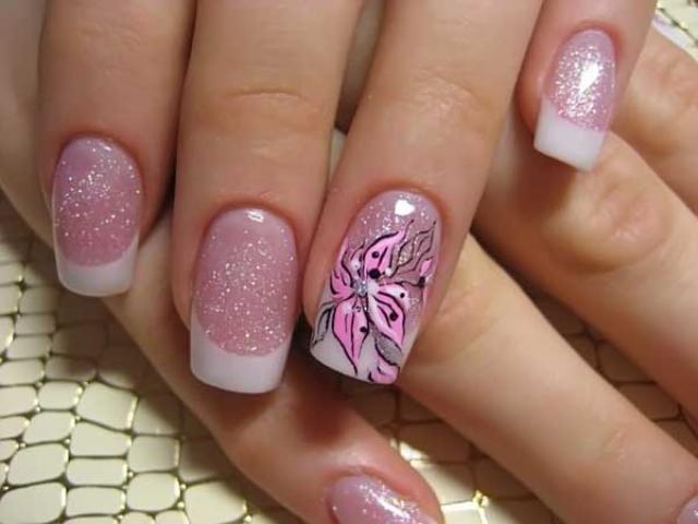 Fantastic Glossy Pink Nail Paint Pink Acrylic Nail Art Design