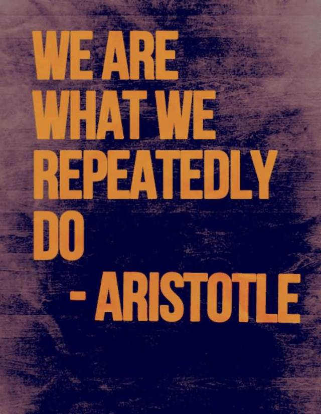Fitness Quotes we are what we repeatedly do Aristotle