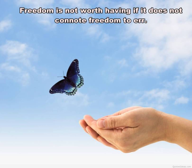 Freedom Quotes freedom is not worth having if it does not connote freedom to err.