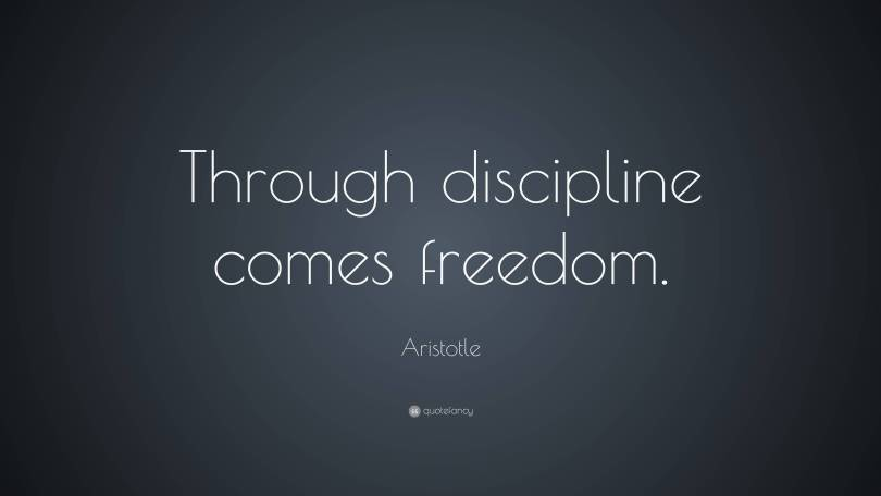 Freedom Quotes through discipline comes freedom