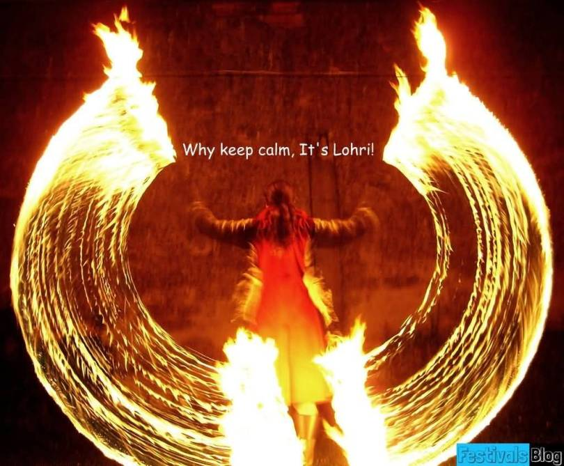 Funny Happy Lohri Wishes For Friends Image