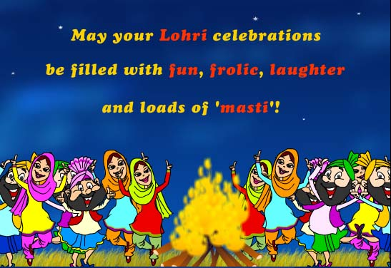Funny Wishes Greetings Of Happy Lohri Image