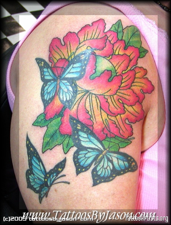 Great Feminine Flowers Tattoo Design For Girls