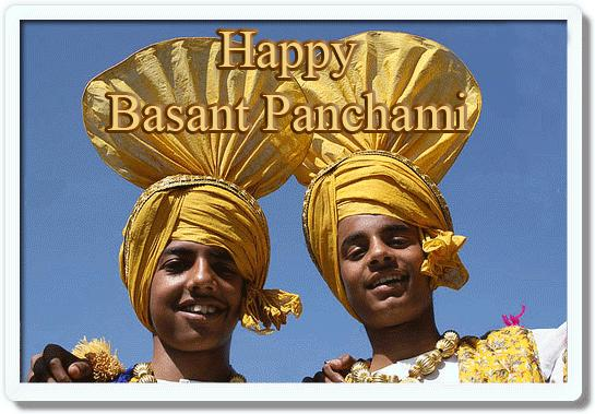 Happy Basant Panchami Bhangra Boys Wishes Images