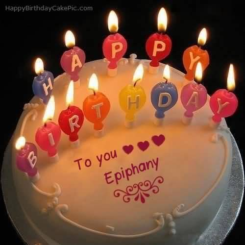 Happy Birthday Epiphany Wishes Cake Image
