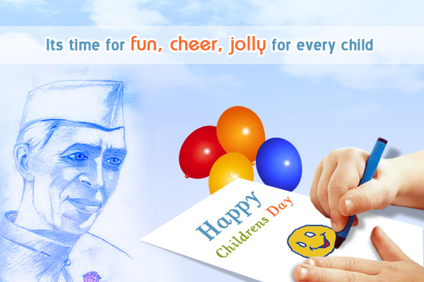 Happy Children's Day Greetings Card Image