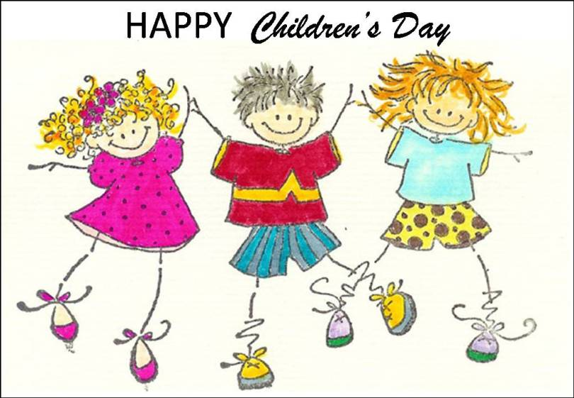 Happy Children's Day Handmade Image