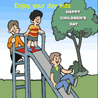 Happy Childrens Day Kids Let's Celebrate Image