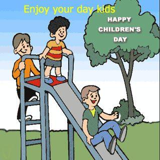 Happy Children's Day Kids Let's Celebrate Image