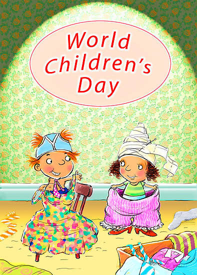 Happy Children's Day Wishes Cartoon Image