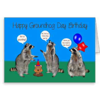 Happy Groundhog Day Greetings Card Image