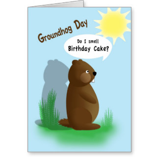Happy Groundhog Day Wishes Card Image