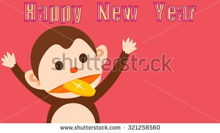Happy New Year Monkey Image