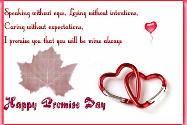 Happy Promise Day I Promise You That You Will Be Mine Always
