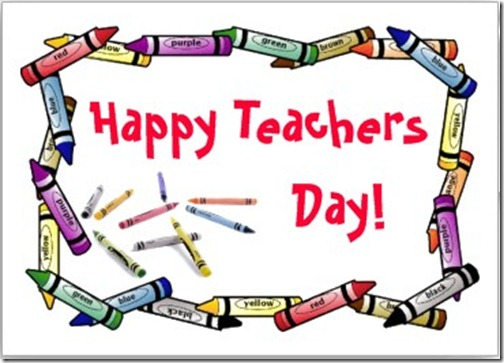 Happy World Teacher's Day Form Kid Wishes Image