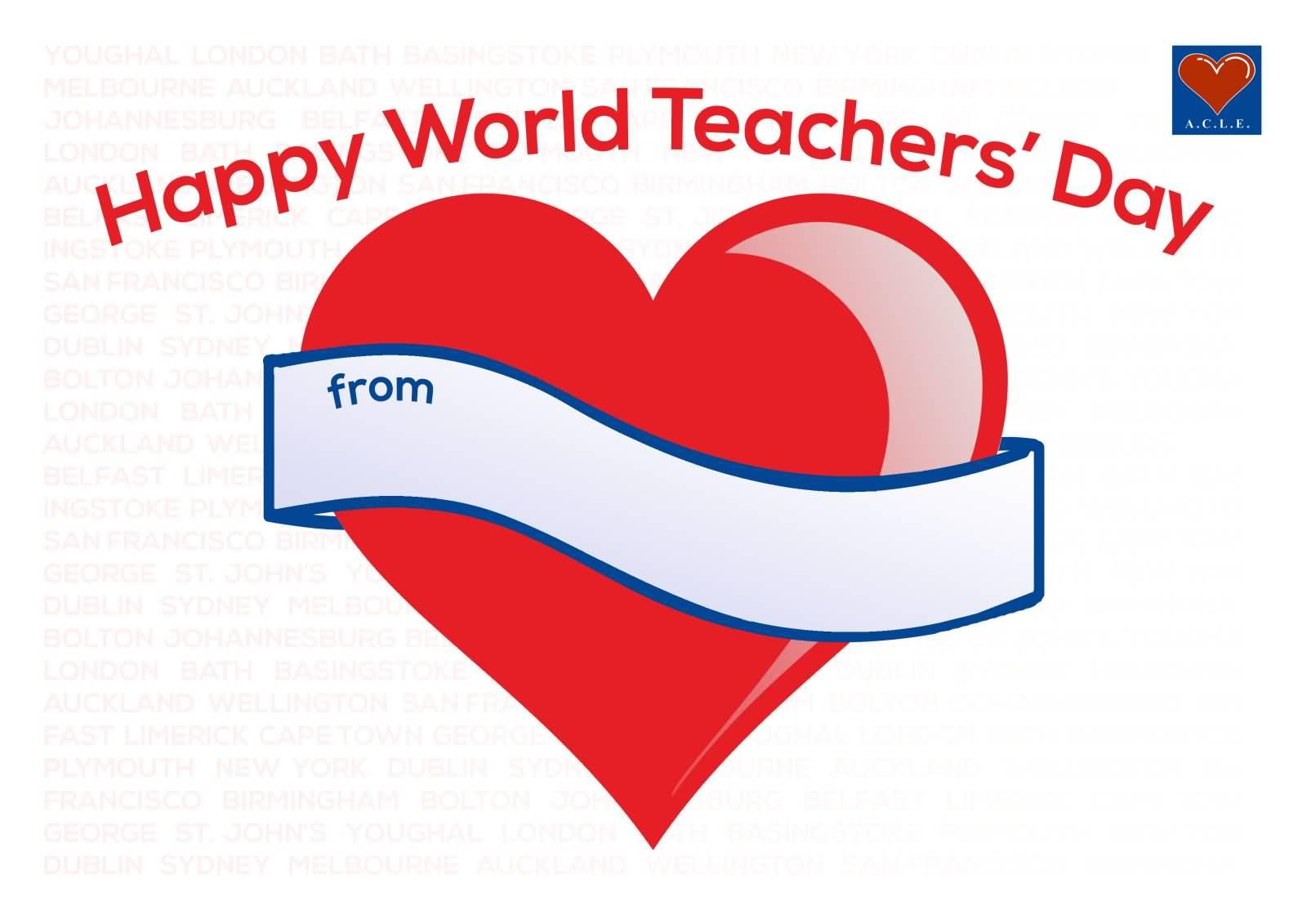 Happy world teachers day greetings heart message image picsmine happy world teachers day greetings heart message image kristyandbryce Images