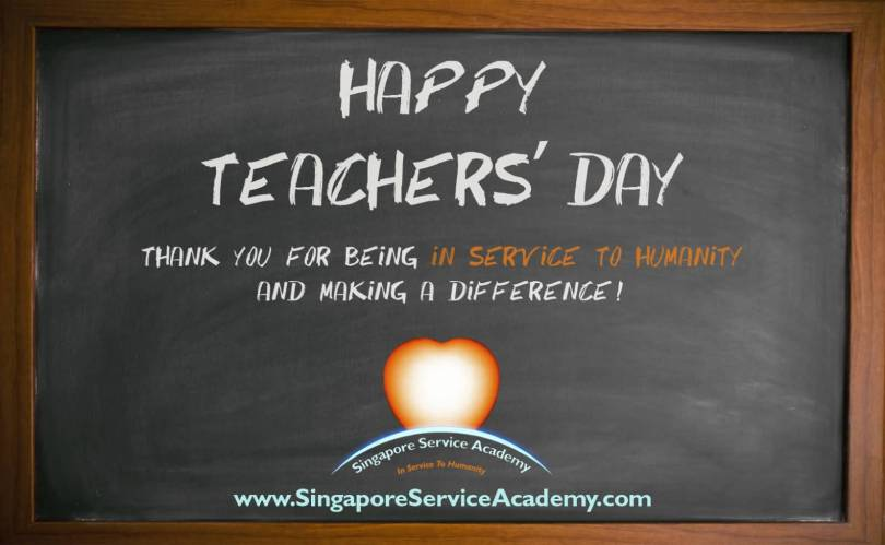 Happy World Teacher's Day Thank You For Being In Service Wishes Image