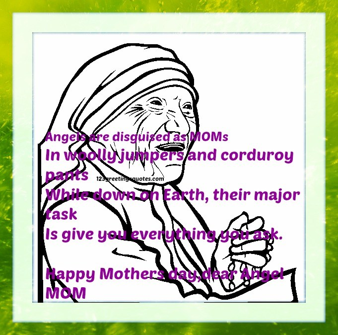 Happy mother's Day Dear Angel Mom Wishes Message Image
