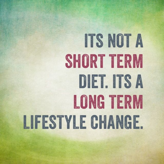 Health Quotes its not a short term diet its a long term lifestyle change